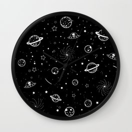 Space pattern Wall Clock