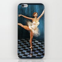 ballerina iPhone & iPod Skins featuring ballerina by Ancello
