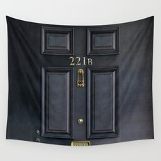 Classic Old sherlock holmes 221b door iPhone 4 4s 5 5c, ipod, ipad, tshirt, mugs and pillow case Wall Tapestry