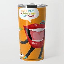 Put A Smile On Travel Mug