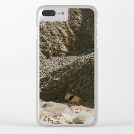 Boxcar in the ravine Clear iPhone Case
