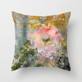 Evening Rose Throw Pillow