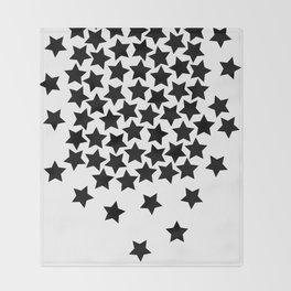 Lots of Black Stars Throw Blanket