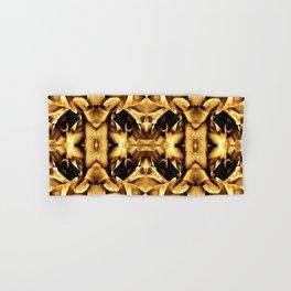 Gold Brown Fantasy Pattern Hand & Bath Towel