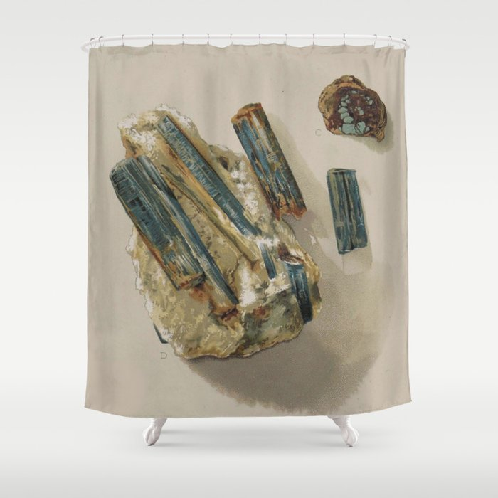 Natural Turquoise Shower Curtain