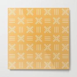 Simple African tribal pattern Metal Print