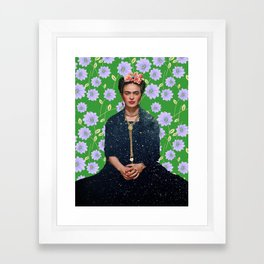 Flowers Frida Kahlo VI Framed Art Print