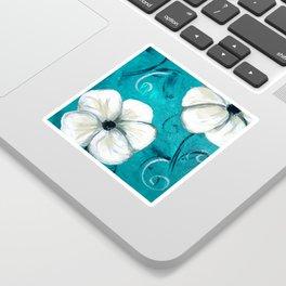 Flowers in Oil Sticker