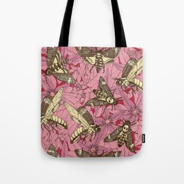 Death's-head hawkmoth rose Tote Bag