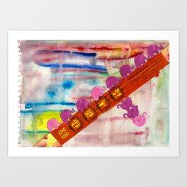 5 Penny the Pink Elephant Art Print