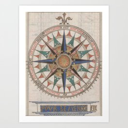 Historical Nautical Compass (1543) Art Print