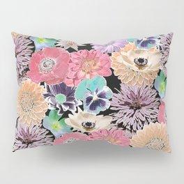 Pink Rose Floral Pillow Sham