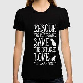 Rescue Save Love animals T-shirt