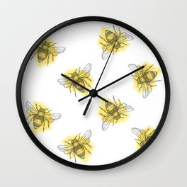 i'd like to be a busy little bee Wall Clock