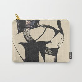 Master will protect you. Sexy submission artwork, BDSM submissive girl, erotic lingerie, kinky games Carry-All Pouch