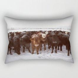 Herd Of Cows Rectangular Pillow