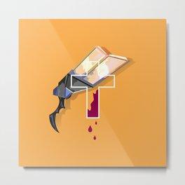 Lucian´s Gun Orange Metal Print