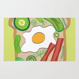 Egg on Toast Rug