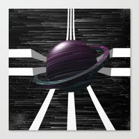 saturn Canvas Prints featuring Saturn by Isaak_Rodriguez
