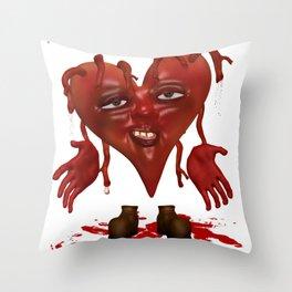 Bleeding Hearts .. gothic fantasy Throw Pillow