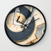 record Wall Clocks featuring Record Player by Shaun Lowe