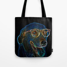 Geek Dog Tote Bag