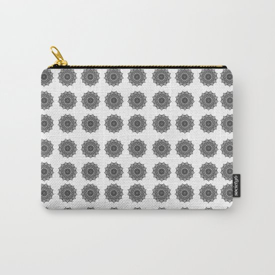 Black and White Mandala | Secret Geometry Carry-All Pouch