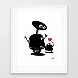 Robot Heart to Heart Framed Art Print