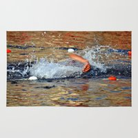 swimming Area & Throw Rugs featuring swimming by  Agostino Lo Coco