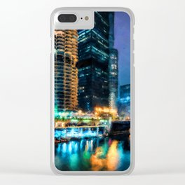 Chicago Panorama Clear iPhone Case