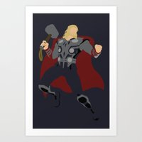 thor Art Prints featuring Thor by TracingHorses