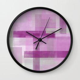 Untitled No. 3   Fuchsia Wall Clock