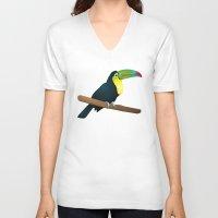 toucan V-neck T-shirts featuring Toucan by Li-Bro