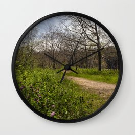 Troubled summer woods Wall Clock