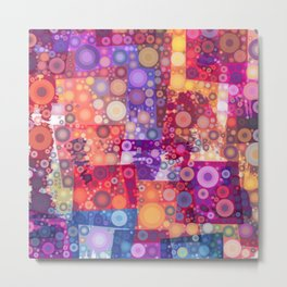 Harlequin Bubbles Metal Print