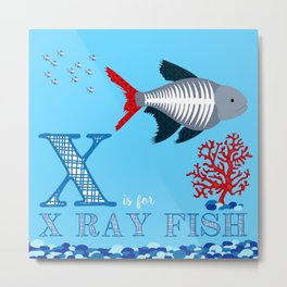 X is for X Ray Fish Metal Print