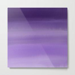 Modern painted purple lavender ombre watercolor Metal Print