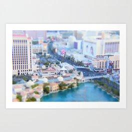Miniature Vegas Strip Art Print