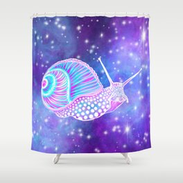 Psychedelic Galaxy Snail Shower Curtain
