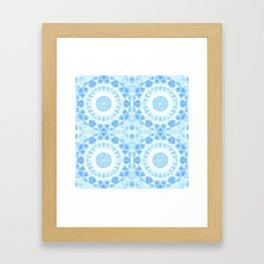 Peaceful blue mandala Framed Art Print