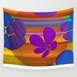 purple flower in pomp Wall Tapestry