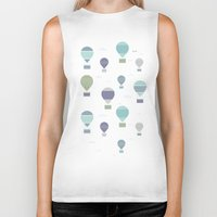hot air balloons Biker Tanks featuring Hot Air by Styloclay