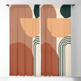 geometric abstract 61 Blackout Curtain