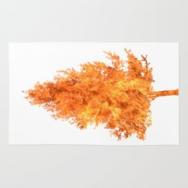 pear tree fire Rug