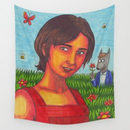 I Can't Imagine the World Without Me Wall Tapestry