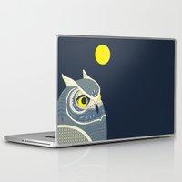 anaconda Laptop & iPad Skins featuring Night Owl by Polkip
