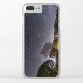 Star Trailing Clear iPhone Case