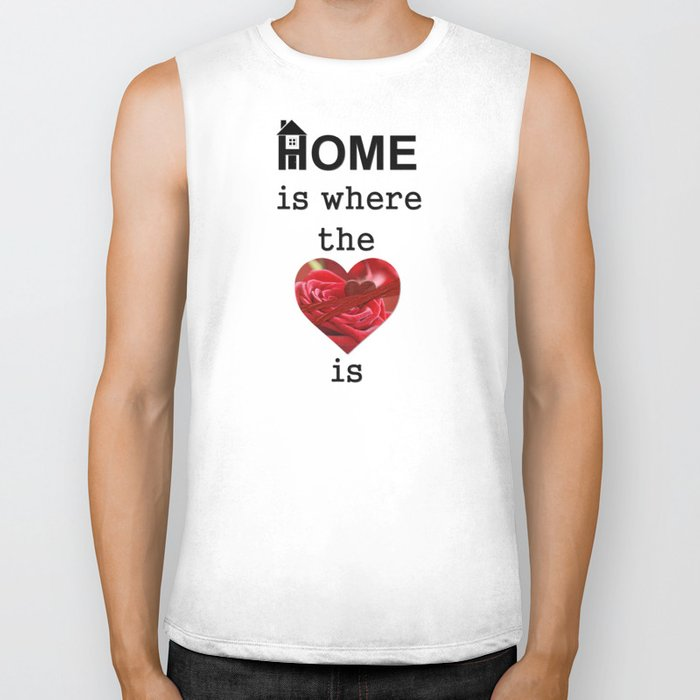 Home Is Where The Heart Is Biker Tank