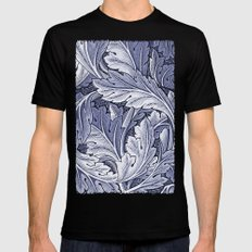 Acanthus Nouveau Style in Blue Mens Fitted Tee Black MEDIUM