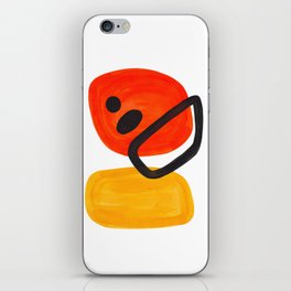 Midcentury Modern Colorful Abstract Pop Art Space Age Fun Bright Orange Yellow Colors Minimalist iPhone Skin